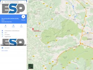 Google maps - ESP d.o.o.