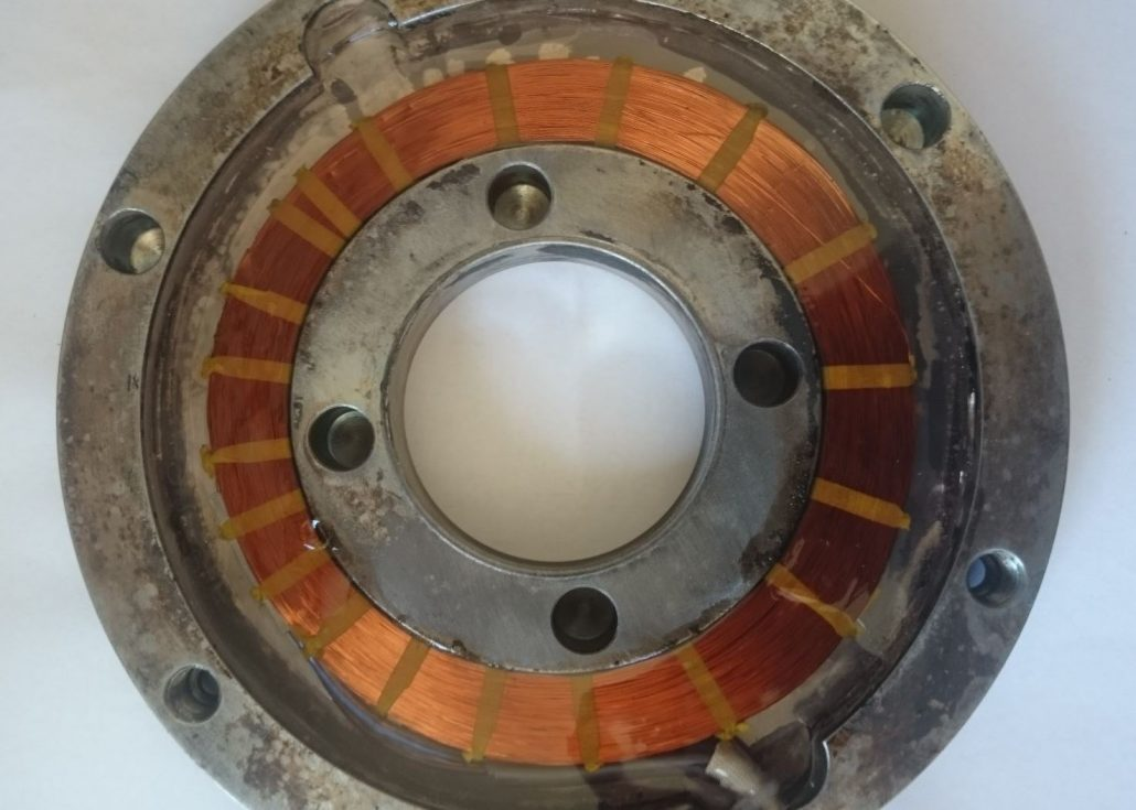 Previta elektromagnetna sklopka - zavora elektromotorja