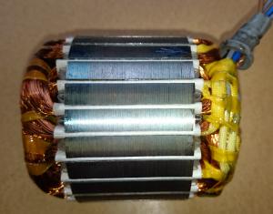 Previjanje elektromotorja - rotor